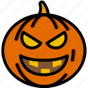 evil, holidays, pumpkin, relax, travel icon