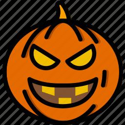 evil, holidays, pumpkin, relax, travel icon