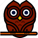 holidays, owl, relax, travel icon
