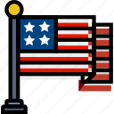american, flag, holidays, relax, travel icon