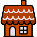 gingerbread, holidays, house, relax, travel icon
