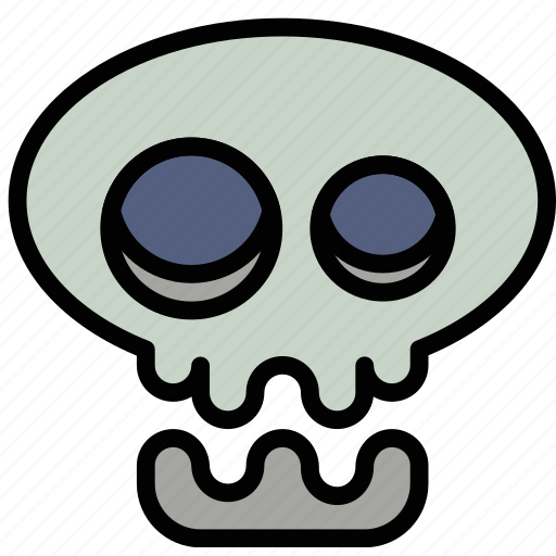 holidays, relax, skull, travel icon