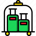 bellhop, hotel, service, travel icon