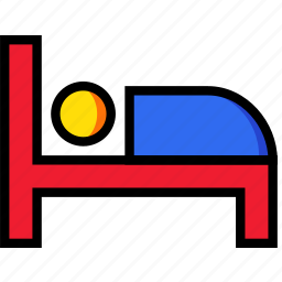bed, hotel, service, travel icon