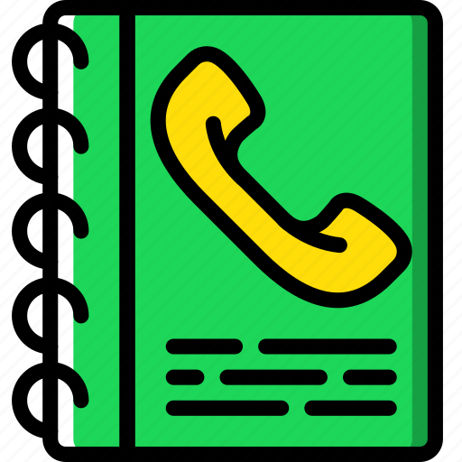hotel, phonebook, service, travel icon