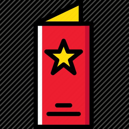 hotel, menu, service, travel icon