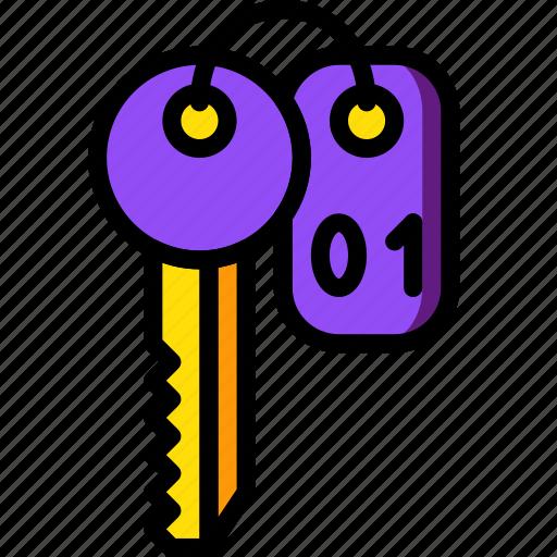 hotel, key, room, service, travel icon