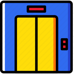 elevator, hotel, service, travel icon