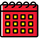 calendar, hotel, service, travel icon