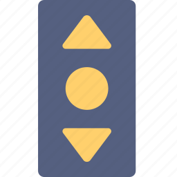 buttons, elevator, hotel, service, travel icon