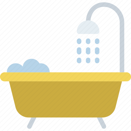 hotel, service, shower, travel icon