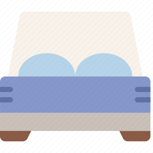 bed, double, hotel, service, travel icon