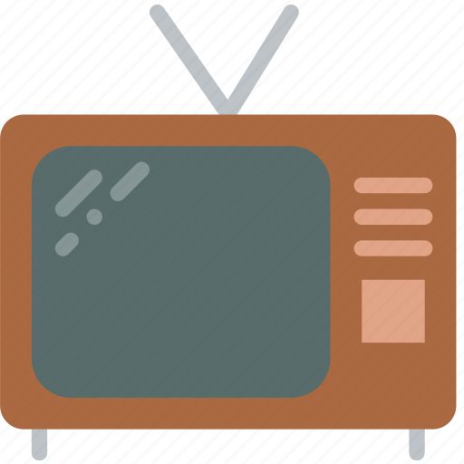 hotel, service, television, travel icon