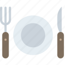 travel, hotel, cutlery, service icon