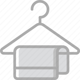 clothes, hanger, hotel, service, travel icon