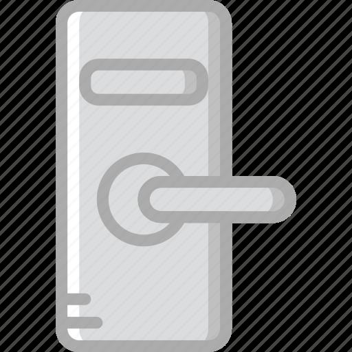 door, hotel, knob, service, travel icon