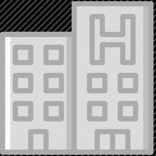 building, hotel, service, travel icon