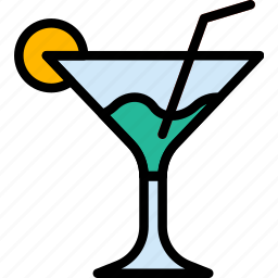 cocktail, hotel, service, travel icon