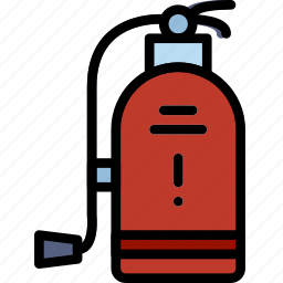 extinguisher, fire, hotel, service, travel icon