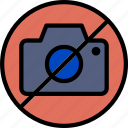 hotel, no, pictures, service, travel icon