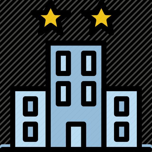 hotel, service, travel icon
