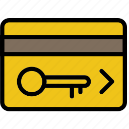 card, entry, hotel, service, travel icon