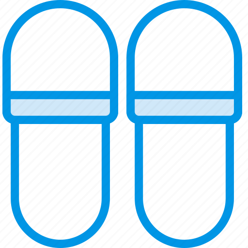 hotel, service, slippers, travel icon