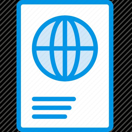 hotel, passport, service, travel icon