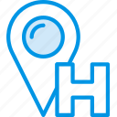hotel, location, service, travel icon