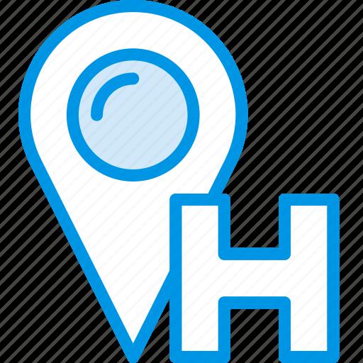 hotel, location, service, travel icon