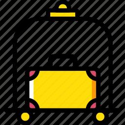 bellhop, hotel, service, travel icon
