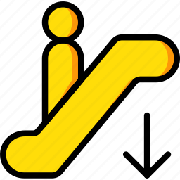 down, go, hotel, service, travel icon