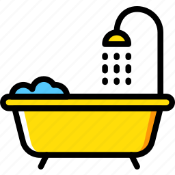 hotel, service, shower, travel icon