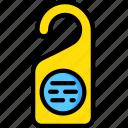 door, hotel, service, sign, travel icon