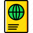hotel, passport, service, travel icon