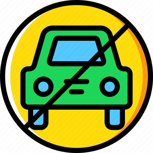 allowed, cars, hotel, no, service, travel icon