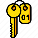 hotel, key, room, service, travel icon