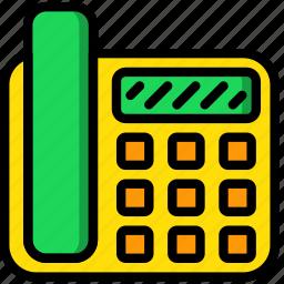 hotel, phone, service, travel icon