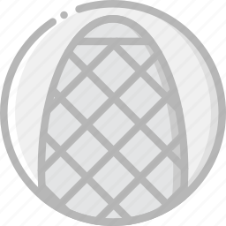 building, gherkin, monument icon