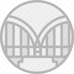 bridge, building, monument icon