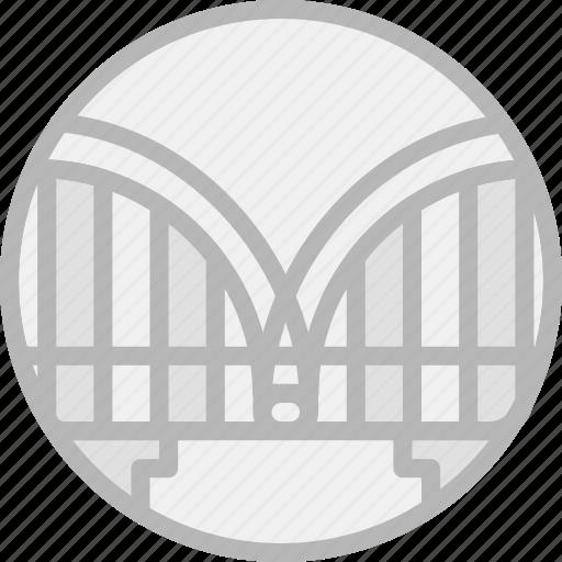 bridge, building, monument icon