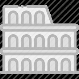 building, colosseum, monument icon