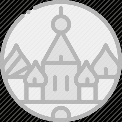 building, kremlin, monument icon
