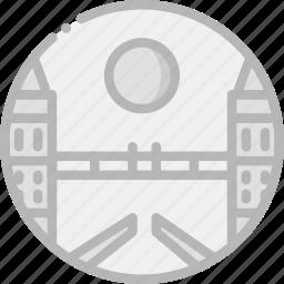 bridge, building, london, monument icon