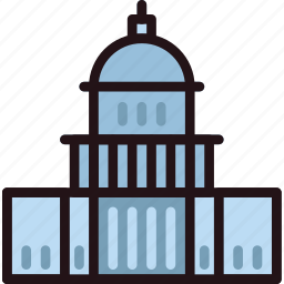 building, capitol, monument, states, united icon