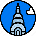 building, chrysler, monument icon