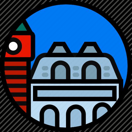 building, monument, venice icon