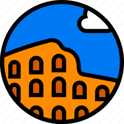 building, colosseum, monument icon