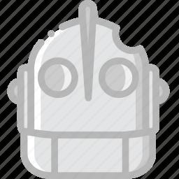 cinema, film, giant, iron, movie icon