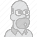 cinema, film, homer, movie icon